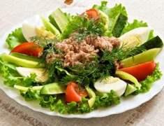 Ton Balıklı Yeşil Salata