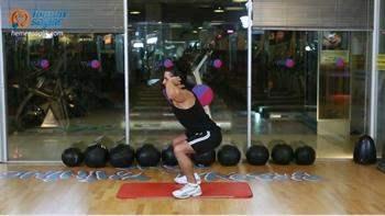 Bacak, bel ve basen bölgelerini calıştıran egzersiz programı